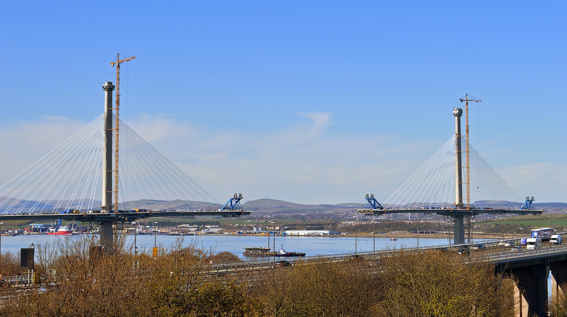The new Forth Bridge: Queensferry, Edinburgh, Scotland